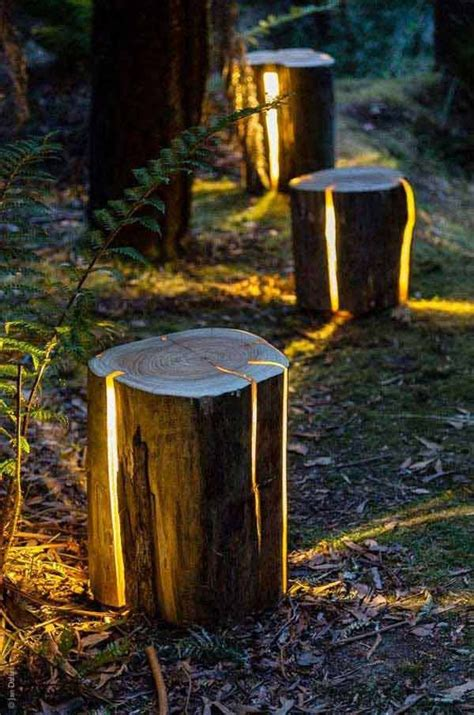 cracked log lamp  diy reclaimed wood projects