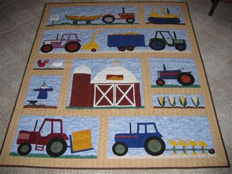 tractor quilt ideas  pinterest baby quilt