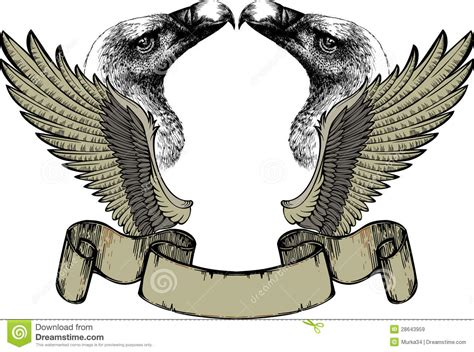 emblem  wings  griffin hand drawing royalty
