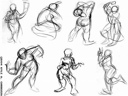 Gesture Drawing Drawings Line Figure Action Movement