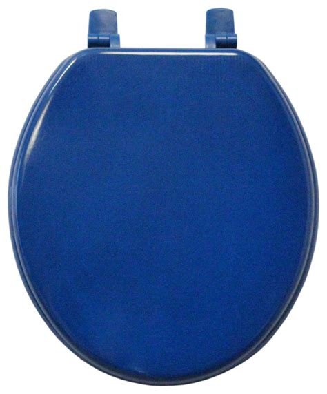 cobalt blue molded wood solid toilet seat contemporary
