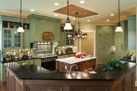 The Stretch Ceiling In The Kitchen by Country Style Kitchens