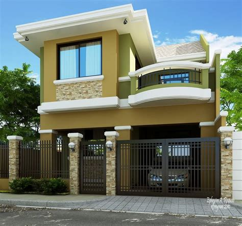 two house designs 2 storey modern house designs in the philippines bahay ofw