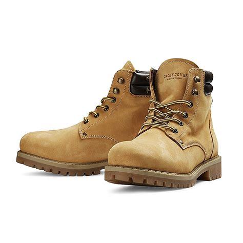mens biker shoes mens leather boots jack jones nubuck stoke high top work