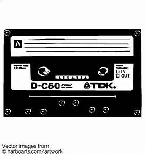Download : Oldschool TDK Cassette Tape - Vector Graphic