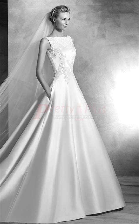 style chapel train   boat neck ball gown
