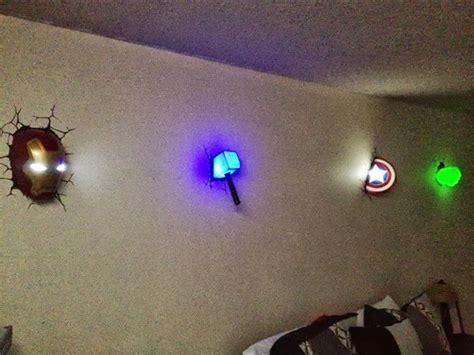 avengers light up wall avengers wall lights for the win geek gadgets i love