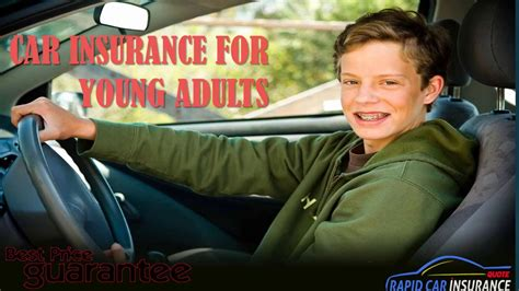 Insurance premiums are based on risk and less younger or inexperienced drivers might be able to save a few quid, but it's better to shop around and compare. Get Best Car Insurance For Young Adults - affordable auto insurance for young drivers - YouTube