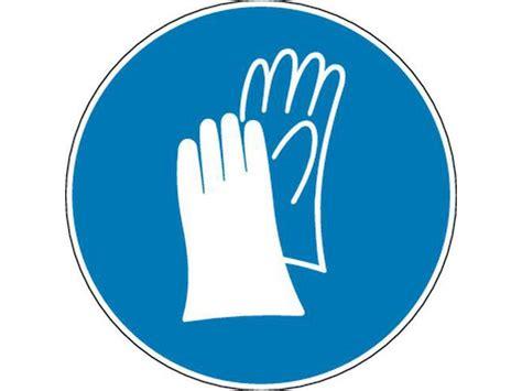 vieux bureau panneau port de gants de sécurité obligatoire