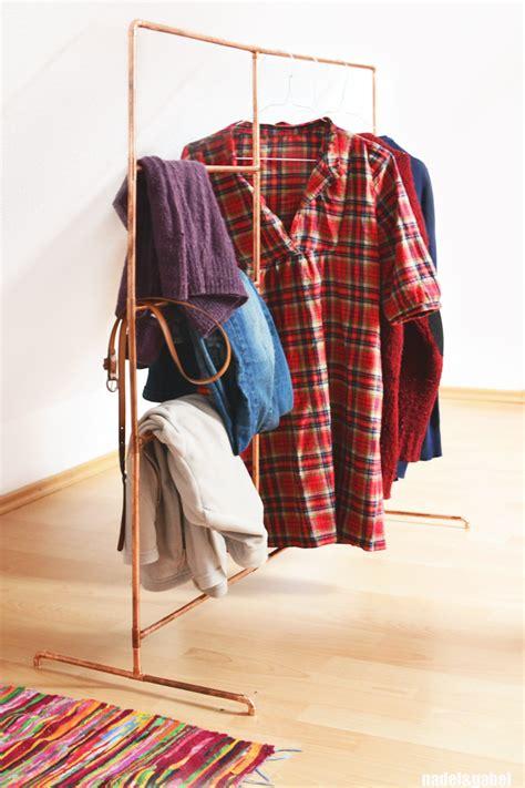 diy clothing rack copper diy clothes rack from copper pipes nadel gabel