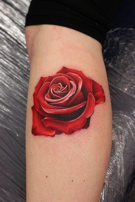 realistic red rose tattoo  tattoo design ideas