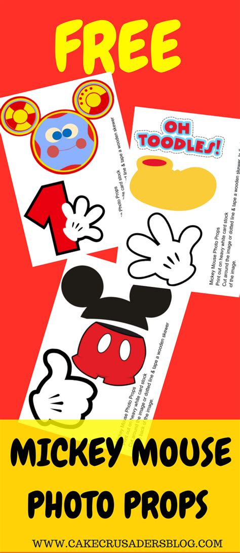 photo props mickey mouse printable templates