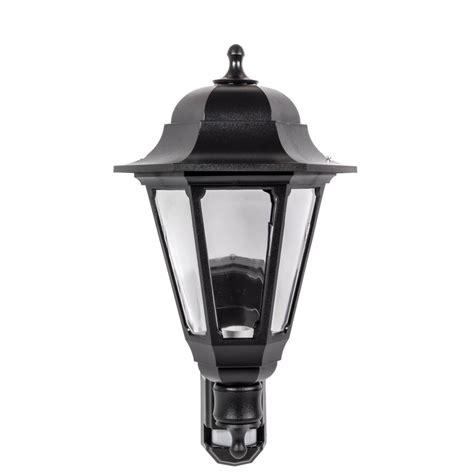 asd coach lantern polycarbonate 100w bc black pir