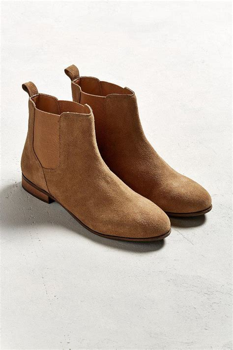 Urban Outfitters Uo Suede Chelsea Boot in Light Brown ...