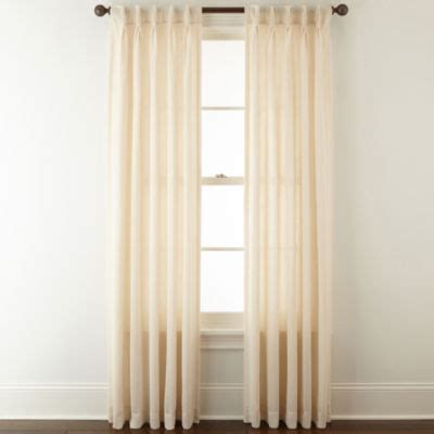 jcpenney home bayview pinch pleat back tab semi sheer