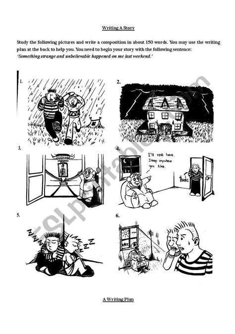 English Worksheets Story Writing