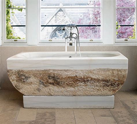 Luxurious Bathrooms The Most Stunning Natural Rock Bathtubs