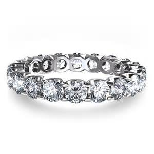 14K White Gold Eternity Ring