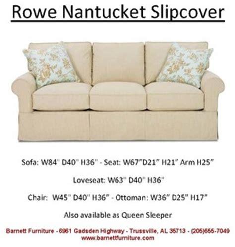 rowe nantucket slipcover sofa loveseat sectional chair