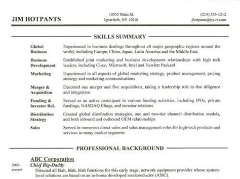 What Should A Resume Profile Contain by What Is A Functional Summary On A Resume