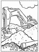 Graafmachine Graafmachines Vrachtwagen Bouwvakker Baufahrzeuge Milou Voertuigen Shovel Vervoer Paradijs Pelleteuse Coloriages Beroepen Colouring Enfants Pusheen Trein Traktor sketch template