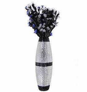 Grand Vase Design : vase design argent alix h60 x l20 cm marque kosilum ~ Teatrodelosmanantiales.com Idées de Décoration
