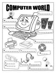 Free Printable Computer Use Worksheets | computer hardware