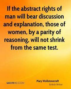 Mary Wollstonec... Parity Quotes