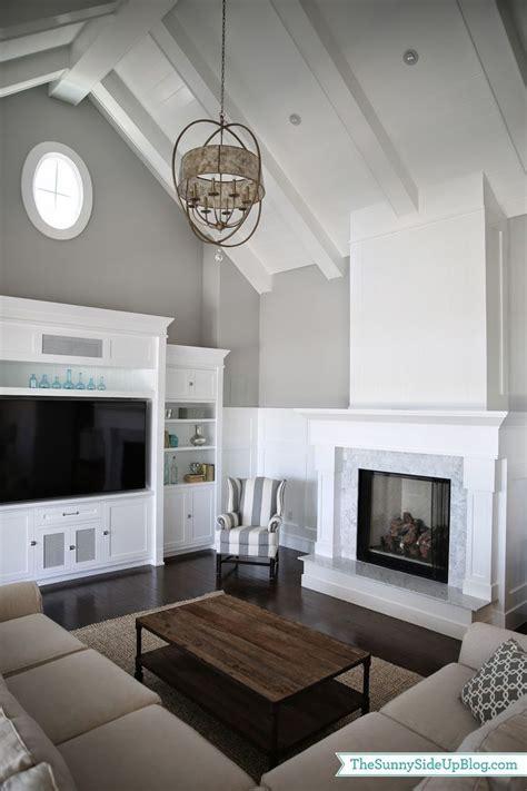 image result  vaulted ceiling offset fireplace built