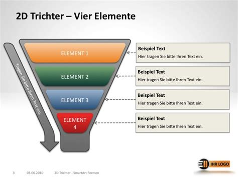 trichter und funnel diagramme fuer powerpoint exit eleven