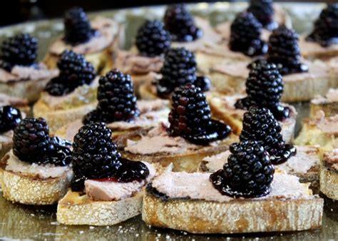 pate canapes pâté blackberry canapés taste with the
