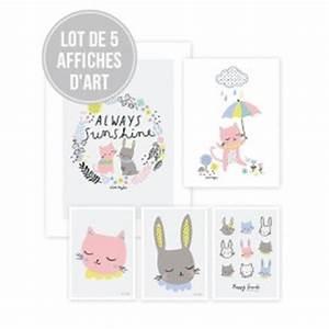 affiche decorative lapin fille pour decorer une chambre d With affiche chambre bébé avec parfum avec une fleur
