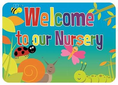 Nursery Welcome Clipart Sign Children Outdoor Rainbow