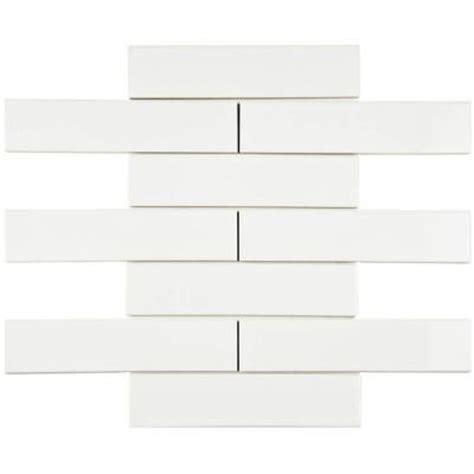 home depot merola subway tile merola tile metro soho subway glossy white 1 3 4 in x 7 3