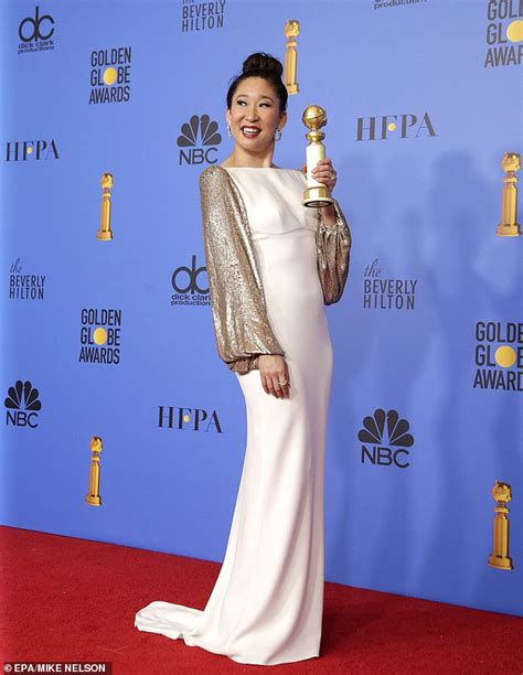 sandra oh history golden globes sandra oh posts triumphant morning after snap in her pjs