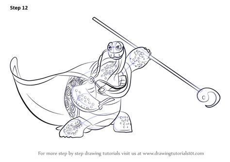 step  step   draw oogway  kung fu panda  drawingtutorialscom