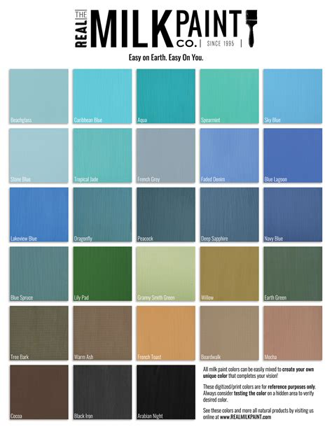 real milk paint color chart real milk paint