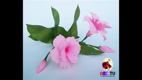 crepe paper how to mandevilla flowers from crepe paper