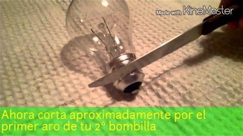 como hacer un reloj de arena con bombillas youtube