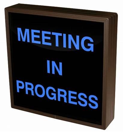 Meeting Progress Sign Signs Signal Led A267