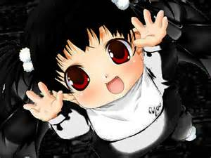 Anime Demon Baby with Black Hair