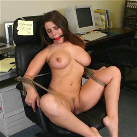 Naked Erica Campbell Tied Up To Chair