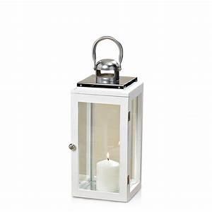 Laterne Weiß Holz : laterne aus holz metall und glas windlicht farbe wei ~ Watch28wear.com Haus und Dekorationen