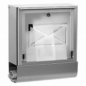 Briefkasten Edelstahl Design : portaferm briefkasten atlanta edelstahl 138 x 355 x 402 mm bauhaus ~ Markanthonyermac.com Haus und Dekorationen
