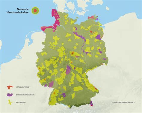 Naturschutzgebiete Deutschland Karte