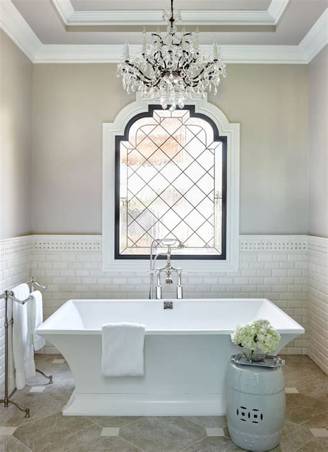 private residence  bathroom chandelier french bathroom