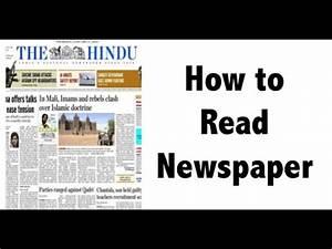 अखबार पढने का सही तरीका जानिये - How To Read Newspaper ...