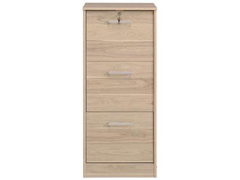 composer bureau classeur 3 tiroirs ludik coloris chêne vente de bureau à