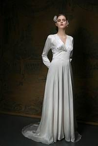 a 1940s style vintage wedding dress for a cool spring day With 1940s style wedding dresses
