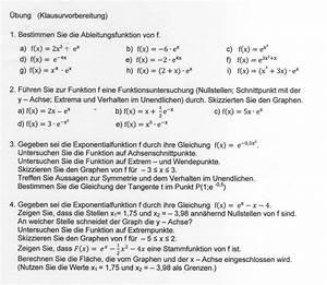 Taylorpolynom Berechnen : exponentialfunktion ableiten und integrieren klausurvorbereitung 12 klasse diverse aufgaben ~ Themetempest.com Abrechnung